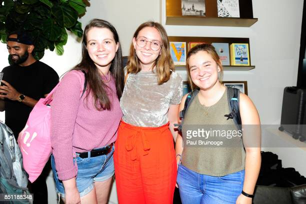 Annie Bojanowski Emma GlassmanHughes and Emma Whisenhuft attend Away Flagship Store Opening at Away on September 21 2017 in New York City
