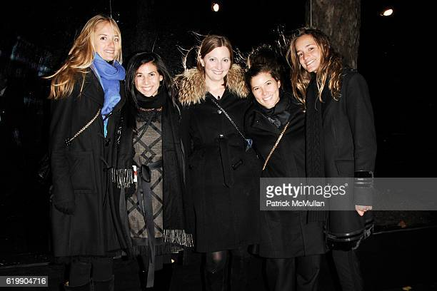 Annie Buck Arianne Gold Nancy Walsh Lindsay Fleege and Nathalie Rumpf attend Opening Party for MOBILE ART CHANEL Contemporary Art Container in...