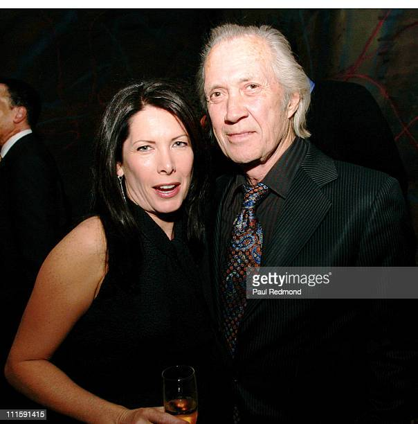 Annie Carradine and David Carradine during LA Confidential Magazine PreGolden Globe Party in Association with W Hotels Worldwide Hosted by Penelope...