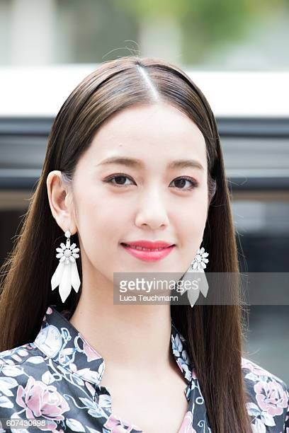 Annie Chen attends the Apu Jan show during London Fashion Week Spring/Summer collections 2016/2017 on September 18 2016 in London United Kingdom