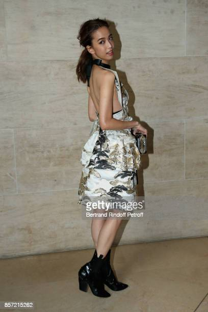 Annie Chen attends the Louis Vuitton show as part of the Paris Fashion Week Womenswear Spring/Summer 2018 on October 3 2017 in Paris France