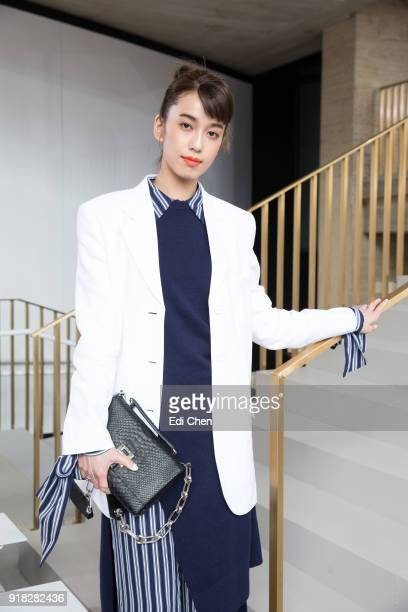 Annie Chen attends the Michael Kors Collection Fall 2018 Runway Show at the Vivian Beaumont Theatre on February 14 2018 in New York City