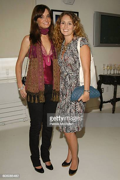 Annie Churchill and Gillian HearstShaw attend Secrets of Charm Spring 2007 Collection at Soho House on September 6 2006 in New York City