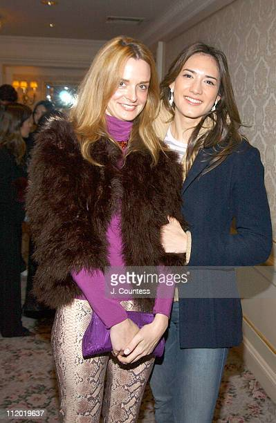 Annie Churchill and Zani Gugelmann during Chie Imai Chie Chic Fashion Show to Benefit the Christopher Reeve Paralysis Foundation Front Row and...
