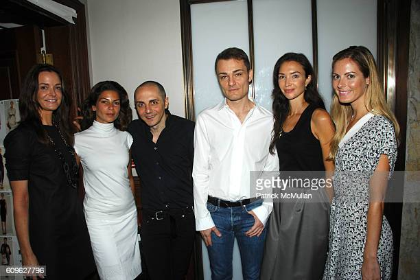 Annie Churchill Eva Lorenzotti Tommaso Aquilano Roberto Rimondi Olivia Chantecaille and Ferebee Bishop Taube attend MALO Spring 2008 Collection at...
