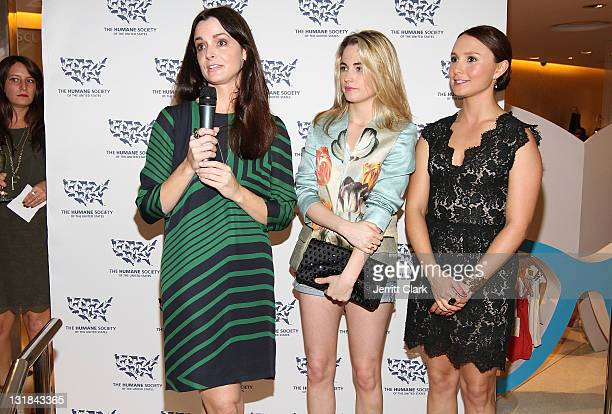 Annie ChurchillAlbert Amanda Hearst and Georgina Bloomberg cochair the HSUS From Cruelty To Kindness Gala at Stella McCartney Store on May 19 2011 in...