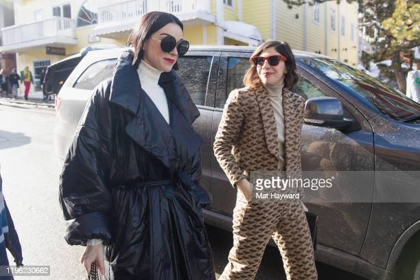 Annie Clark aka St. Vincent and Carrie Brownstein of Sleater-Kinney are seen on Main Street during the Sundance Film Festival on January 23, 2020 in...