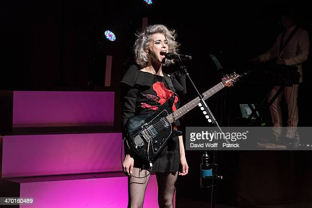 Annie Clark AKA St Vincent performs at La Cigale on February 18 2014 in Paris France