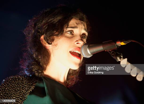Annie Clark aka St Vincent performs at Tipitina's on October 26 2011 in New Orleans Louisiana