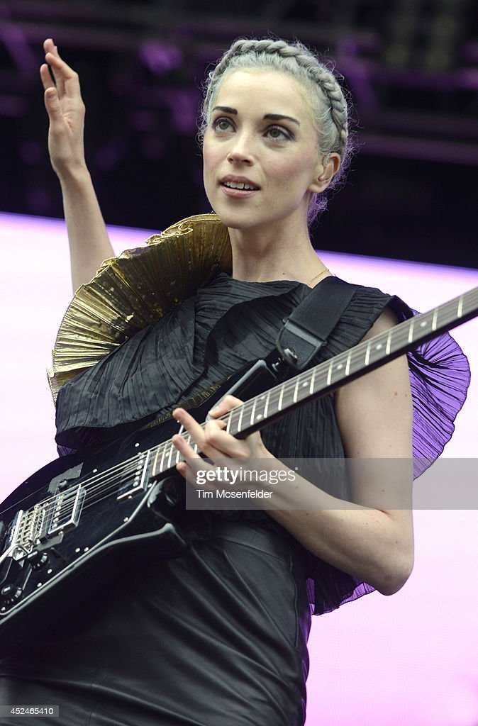 Annie Clark aka St. Vincent performs during the Pemberton Music and Arts Festival on July 20, 2014 in Pemberton, British Columbia.