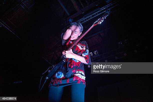 Annie Clark aka St Vincent performs on stage at 02 ABC Glasgow on August 26 2014 in Glasgow United Kingdom