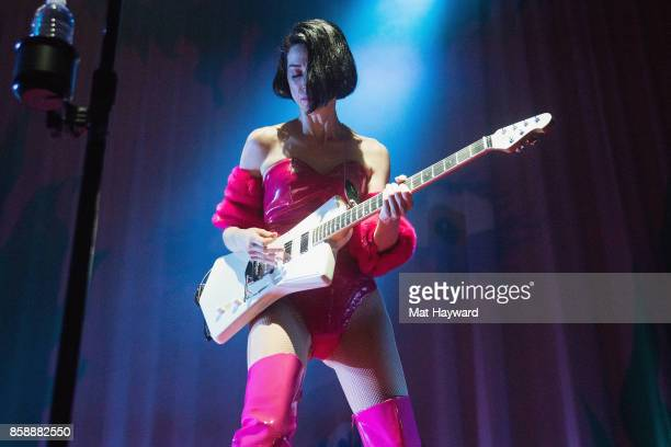 Annie Clark aka St Vincent performs on stage during opening night of the 'Fear The Future' tour as part of the Red Bull Music Academy Festival Los...