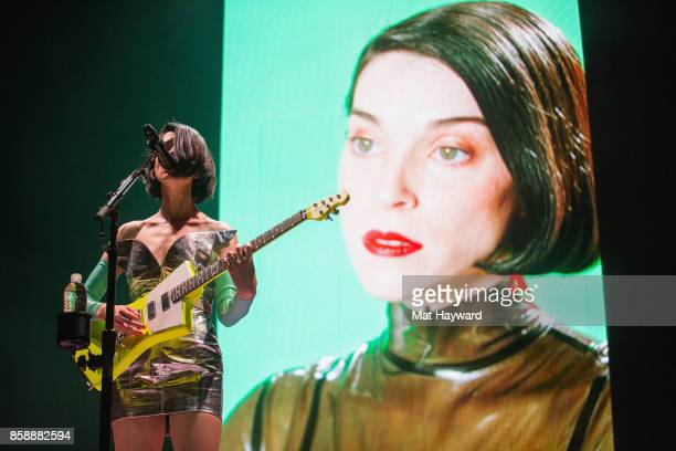 Annie Clark aka St Vincent performs on stage during opening night of the Fear The Future tour as part of the Red Bull Music Academy Festival Los...