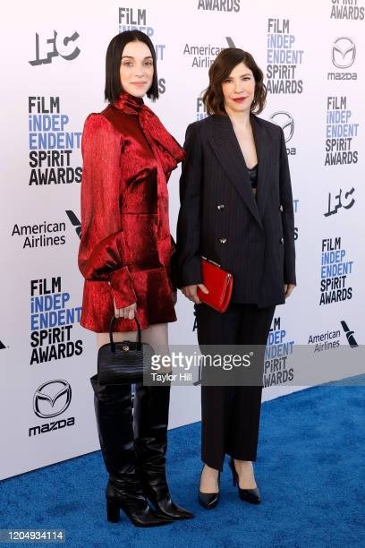 Annie Clark and Carrie Brownstein attend the 2020 Film Independent Spirit Awards at Santa Monica Pier on February 08, 2020 in Santa Monica,...