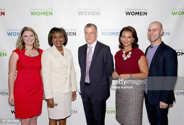 Annie Clark Anita Hill Christopher Boerner Tamala Edwards and Adam Grant attend the Pennsylvania Conference for Women 2016 at Pennsylvania Convention...