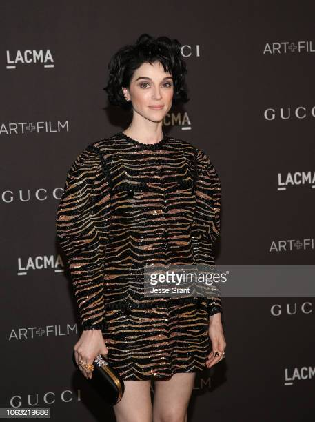 Annie Clark attends the 2018 LACMA Art Film Gala at LACMA on November 03 2018 in Los Angeles California