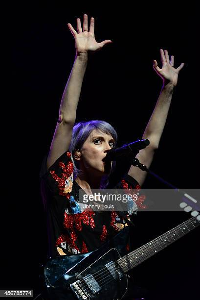 Annie Clark of St Vincent performs at Fillmore Miami Beach on October 6 2014 in Miami Beach Florida