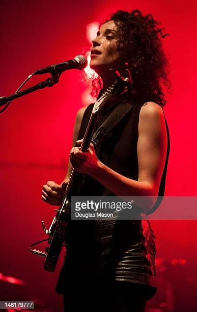 Annie Clark of St Vincent performs during the 2012 Bonnaroo Music and Arts Festival on June 8 2012 in Manchester Tennessee