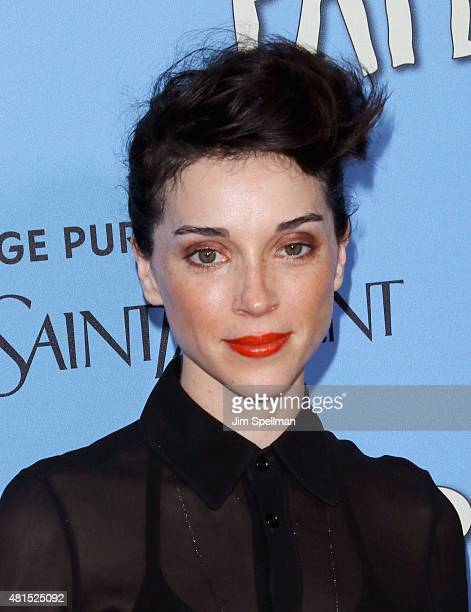 Annie Clark St Vincent attends the 'Paper Towns' New York premiere at AMC Loews Lincoln Square on July 21 2015 in New York City