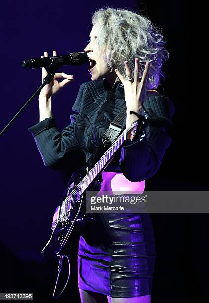Annie Clarke aka St Vincent performs live on stage at the Sydney Opera House on May 25 2014 in Sydney Australia