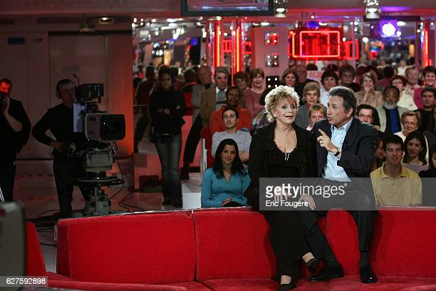 Annie Cordy and Michel Drucker on the set of TV show 'Vivement Dimanche'