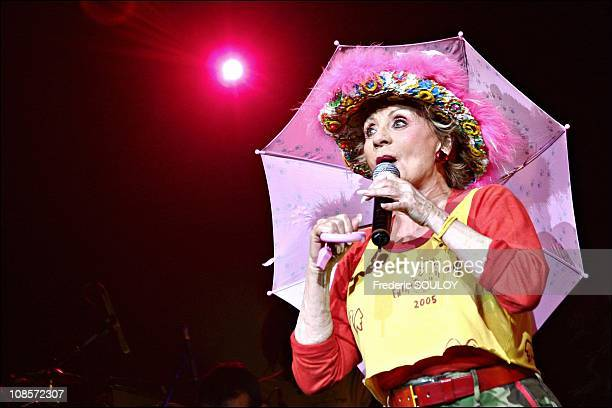 Annie Cordy at Concert Children of the Earth at the Zenith of Paris in Paris France on May 28th 2005