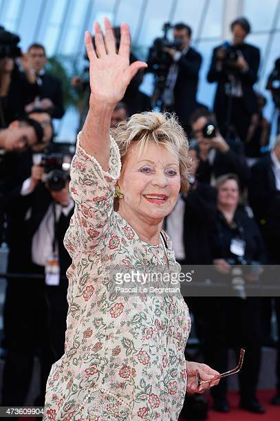Annie Cordy attends the Mia Madre Premiere during the 68th annual Cannes Film Festival on May 16 2015 in Cannes France