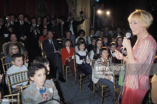 Annie Cordy au Noel de l'Elysée le 15 décembre 1976 Paris France