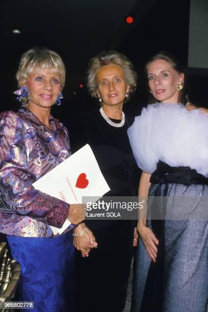 Annie Cordy et Bernadette Chirac à la première du Bolchoi à Paris le 27 septembre 1986 France