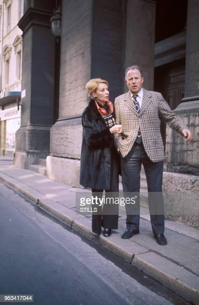 Annie Cordy et son mari dans les années 70 à Paris France Circa 1970