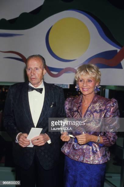 Annie Cordy et son mari çà la première du Bolchoi à Paris le 27 septembre 1986 France