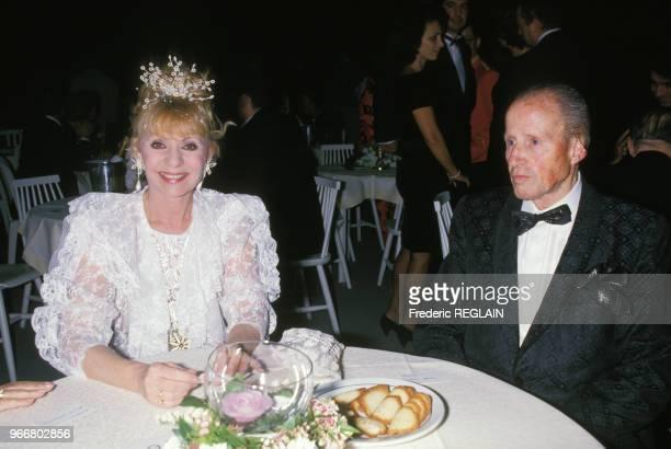 Annie Cordy et son mari lors de la soirée hommage à Dalida le 31 mars 1988 Paris France