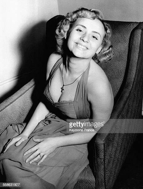 Annie Cordy à Londres RoyaumeUni le 20 février 1954