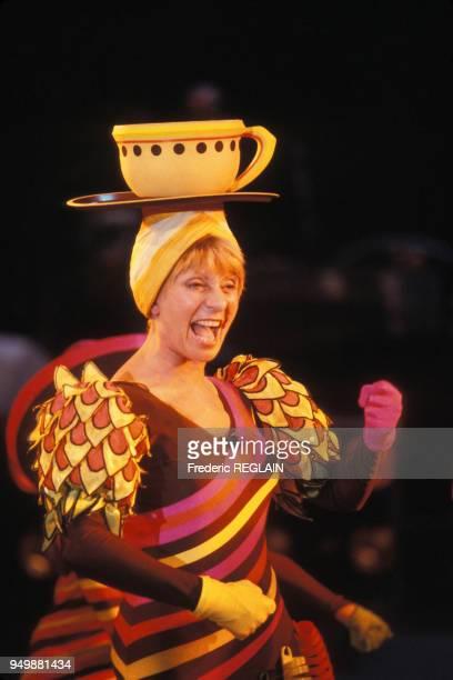 Annie Cordy sur le plateau de l'émission 'Cadence 3' le 6 mars 1985 Paris France