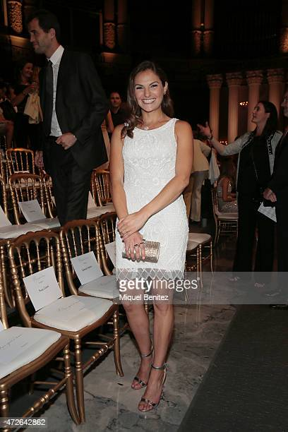 Annie Costner attends the Pronovias fashion show 2016 as part of the Barcelona Bridal Week at the Museu Nacional d'Art de Catalunya in Barcelona on...