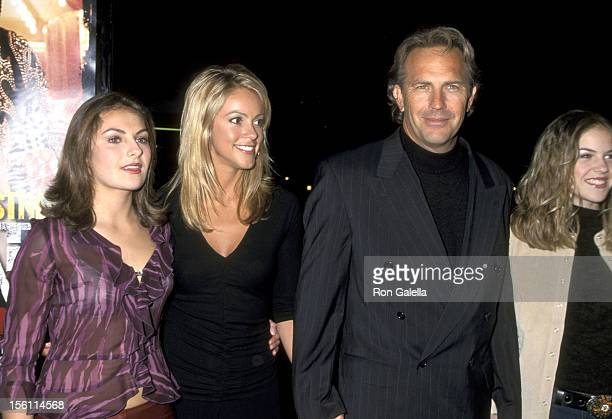 Annie Costner Christine Baumgartner Kevin Costner and Lily Costner