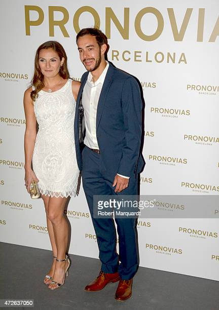 Annie Costner poses during a photocall for the latest collection by 'Pronovias' during Barcelona Bridal Week on May 8 2015 in Barcelona Spain