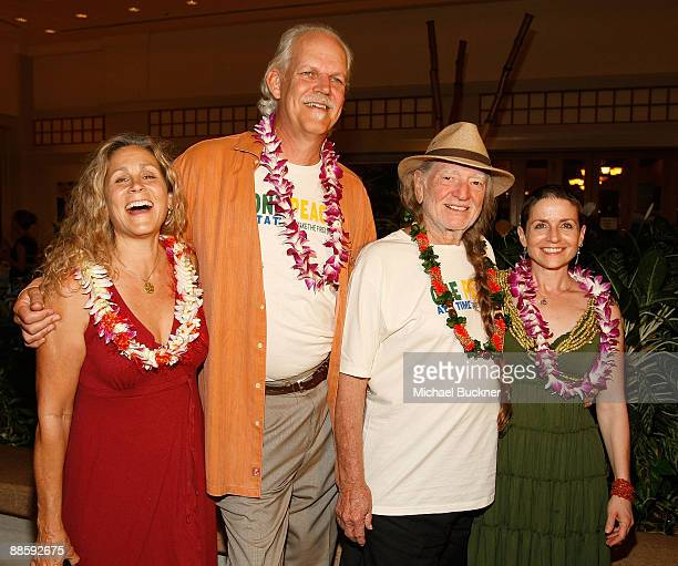 Annie D'Angelo Producer Turk Pipkin Maverick Award recipient Willie Nelson and producer Christy Pipkin arrive to the 10th Annual Maui Film Festival...