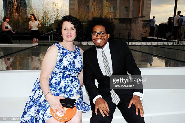 Annie Dinerman and Hakeem Lambert attend VLA Summer Benefit 2016 at Sony Music on June 21 2016 in New York City