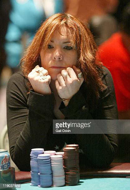 Annie Duke plays poker at the Foxwoods Resort Casino 2004 World Poker Finals in Ledyard Connecticut Monday November 15 2004 The World Poker Tour can...