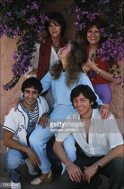 Annie Duperey and Bernard Giraudeau in Taroudant Morocco in 1981 With Geard Lanvin Andrea Ferreol and Brigitte Fossey
