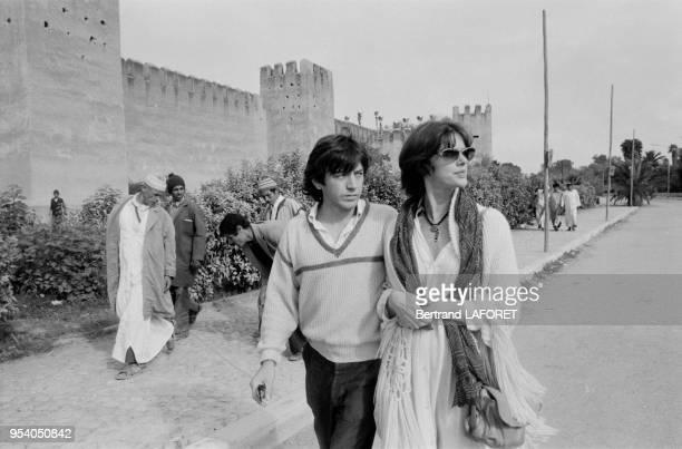 Annie Duperey et Bernard Giraudeau lors des 4ème rencontre de la fondation Philip Morris pour le cinéma français à Taroudant en novembre 1981 Maroc