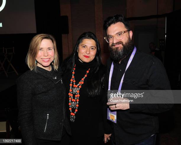 Annie Eastman Sharmeen ObaidChinoy and David Coomb attends SITARA screening hosted by Gucci and CHIME FOR CHANGE at The Shop on January 26 2020 in...
