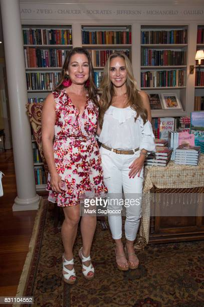 Annie Falk and Andrea Correale attend Hamptons Magazine's Private Dinner Celebrating East Hampton Library Authors Night on August 12 2017 in East...