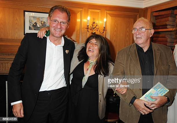 Annie Freud Andrew Motion and Clive James at The Spectator Launches Poetry Evening Nights on July 8 2009 in London England