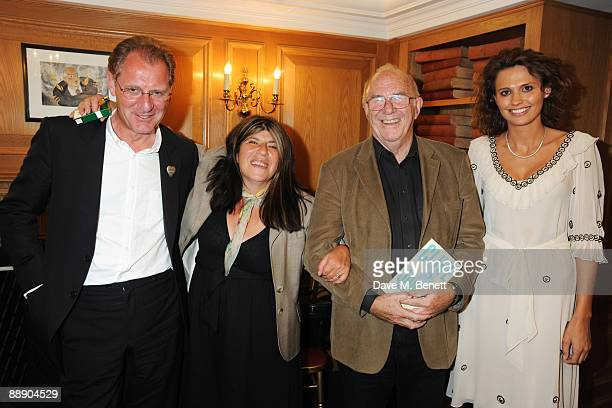 Annie Freud Andrew Motion Clive James and Olivia Cole at The Spectator Launches Poetry Evening Nights on July 8 2009 in London England