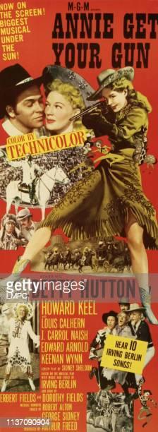 Howard Keel Betty Hutton bottom left Betty Hutton bottom right Howard Keel Betty Hutton Louis Calhern Keenan Wynn on insert poster art 1950