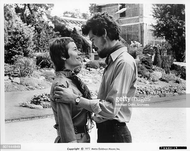 Annie Girardot and Bruno Pradal reunite in a scene from the MGM movie 'To Die of Love' aka 'Mourir d'aimer' Circa 1972