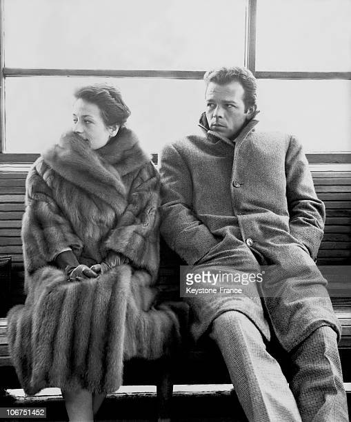Annie Girardot And Renato Salvatori Are In Venice For The Shooting Of A New Film Directed By Florestano Vancini In 1962