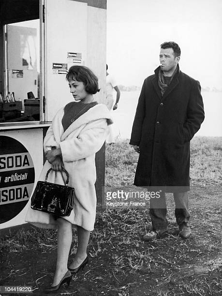 Annie Girardot And Renato Salvatori On The Shooting Of Rocco Et Ses Freres In 1960